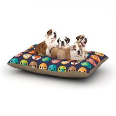 """And this lovely Dog Bed always makes me smile - big enough for a pet party, or just for sprawling comfortably on their own! Daisy Beatrice """"Smiley Faces Repeat"""" Animal Pattern Dog Bed from KESS InHouse"""