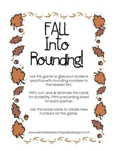 This is a great game to reinforce rounding to the nearest 10!...