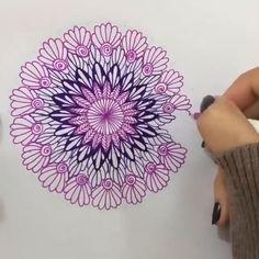 62 ideas zentangle art dibujos mandalas for 2019 Mandala Doodle, Mandala Art Lesson, Mandala Artwork, Mandala Painting, Easy Mandala Drawing, Mandala Sketch, Simple Mandala, Art Pencil Set, Pencil Art Drawings