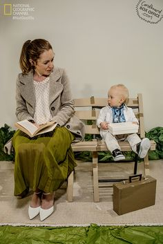 ForrestGump Parents recreate iconic scenes from cardboard and other misc. with baby.