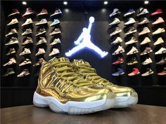 lowest price e07ca 51a8a Purchase Air Jordan 11 Pinnacle Metallic Gold White Kawhi Leonard  Basketball Shoes For Sale