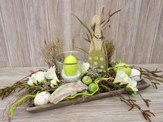 Door Wreaths Deco Wreaths Advent Wreaths Easter wreaths of Missbellflower Outside Decorations, Decoration Table, Small Lanterns, Deco Wreaths, Easter Traditions, Easter Table, Easter Wreaths, Advent Wreaths, Handmade Decorations
