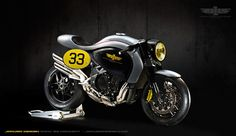 MV Augusta Brutale the inspiration come from the iconic Norton Manx motorcycle, By Jakusamotors Design