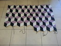 Ravelry: Project Gallery for Vasarely Blanket pattern by Mrs Purple