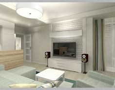 Behance, Tv, Wall, Home Decor, Decoration Home, Room Decor, Television Set, Walls, Home Interior Design