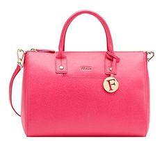 72e7e259d5fe Furla Linda Medium Satchel Handbag - Pinky Wristlets