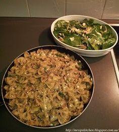 Mrs. Ip's Kitchen: Jamie Oliver's 15 Minute Meals Mushroom Farfalle Blue Cheese Hazelnut & Apple Salad