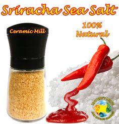 Sriracha Sea Salt Grinder 100 Grams (3.5oz)