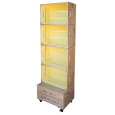 Create eye-catching one-off displays with our branded retail display furniture. Hand-crafted in Devon from sustainable wood. We specialise in bespoke options. Crate Shelves, Display Shelves, Display Ideas, Armoire Buffet, Shelving Solutions, Retail Shelving, Apple Crates, Palette, Crate Furniture