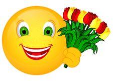 Smiley – Tulpenstrauß Free Animated Gifs, Animated Smiley Faces, Funny Emoji Faces, Animated Emoticons, Funny Emoticons, Cute Emoji, Smiley Emoji, Sick Emoji, Smiley Emoticon