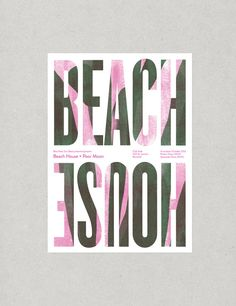 Beach House concert poster by BiensCommuns on Etsy, $25.00