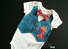 Cowboy Vest  Bodysuit,  Bandana Bow Tie, Boy First Birthday Bodysuit, Boy Cake Smash Outfit, Cowboy 1st Birthday, Boy Birthday, Cowboy 1 Hat