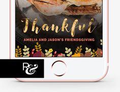 THANKSGIVING SNAPCHAT FILTER, Thanksgiving Snapchat Geofilter,Floral Snapchat, Friendsgiving Filter,Friendsgiving
