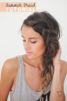 Side French Braid for beginners - video tutorial!