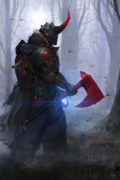 scifi-fantasy-horror: Forest walker by Lucdehaan