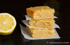 White Chocolate Lemon Blondies via @Ari's Menu