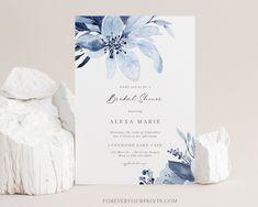 Bridal Shower Invitation Printable Bridal Shower Invites   Etsy