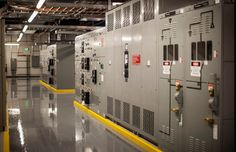 Electrical gear at ViaWest's Compark data center in Englewood, Colorado. (Photo by Paul Talbot, 23rd Studios)