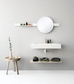 UNIBANO-Pack307-Baño Mueble de baño con encimera de 80cm y repisa para toallas y barra para sujetar espejo y accesorios. PVP Recomendado 925€