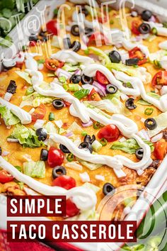 This tasty taco casserole recipe takes all of your favorite taco flavors and puts them into an easy-to-make one-dish dinner. It is the perfect meal that your whole family will love! Taco Casserole, Casserole Recipes, Best Side Dishes, Main Dishes, Chili Recipes, Mexican Food Recipes, Stay At Home Chef, One Dish Dinners, Best Dinner Recipes