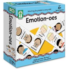 Emotion-oes Board Game by Carson Dellosa: Larger than the average domino, this game will help your child recognize emotions. Elementary Counseling, Counseling Activities, School Counselor, Classroom Activities, Activities For Kids, Classroom Ideas, Future Classroom, Preschool Ideas, Therapy Games