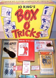 R. APPEL: 1950s Jo King's BOX O' TRICKS #vintage #toys