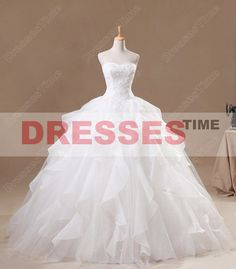 Wedding dress ball gown  Princess wedding dress / by dressestime, $279.99
