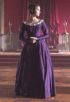 Victoria in pruple gown.
