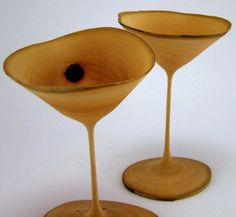 Wooden goblets by Greg Gallegos