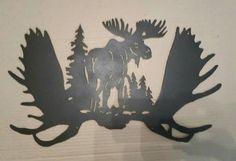 Check out this item in my Etsy shop https://www.etsy.com/listing/228745097/moose-metal-wall-decor