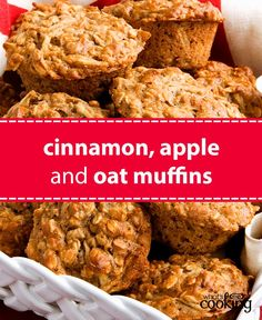 Bake and freeze these muffins for yummy grab-and-go snacks your family will love. Tap or click photo for this Cinnamon, Apple and Oat Muffins Muffin Recipes, Baking Recipes, Dessert Recipes, Flour Recipes, Healthy Baking, Healthy Recipes, Cooking Bread, Smoothie Recipes, Food And Drink