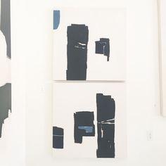 Holly Addi Minuette Bodrum, a duo  36x36  #abstractart #modernart #artduo #artanddesign