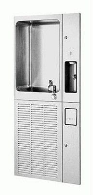 Sunroc NFRD12CD Water Cooler with Cup Dispenser, Refrigerated Drinking Fountain, Fully Recessed, 12 GPH {for the gym/ bball court}