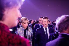 Emmanuel Macron, président de la République française et sa femme la Première Dame Brigitte Macron (