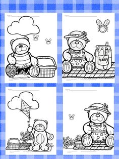 Free Teddy Bear Picnic Coloring Pages and other Teddy Bear Picnic Kindergarten Reading Activity Suggestions