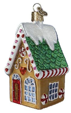 Cookie Cottage Glass Ornament