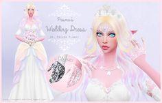Wedding Dress + Gloves at Prisma Planet via Sims 4 Updates Sims 4 Wedding Dress, Wedding Dresses, Sims 4 Cc Skin, Sims Cc, My Pretty Pony, Sims 4 Anime, Sims 4 Blog, Sims4 Clothes, Wedding Gloves