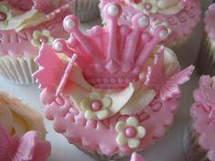 Princess cupcakes for Jessica,  Strawberry cupcake with Madagascar vanilla buttercream
