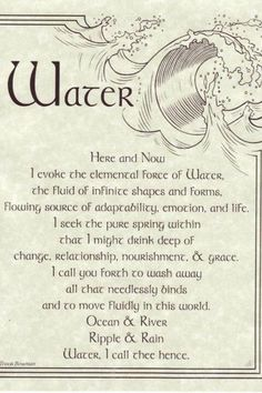 This is one of my favorites on Wiccan Supplies, Witchcraft Supplies & Pagan Supplies Experts-Eclectic Artisans: Water Evocation poster Wiccan Spell Book, Wiccan Witch, Magick Spells, Wicca Witchcraft, Witch Spell, Sea Witch, Water Witch, Blood Magic Spells, Witchcraft Spells For Beginners