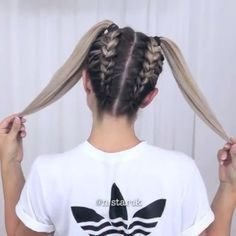 Simple Coiffure Concepts For Your Hair Hair simple fingers Concepts Back To School Hairstyles, Fast Hairstyles, Girl Hairstyles, Braided Hairstyles, Amazing Hairstyles, Hairstyles Tumblr, Teenage Hairstyles, Popular Hairstyles, Cute Hairstyles For Medium Hair