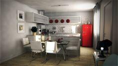 coisa de arquitecto -3d cozinha