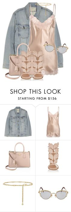 """""""Untitled #3676"""" by xirix ❤ liked on Polyvore featuring Current/Elliott, Falcon & Bloom, Prada, Giuseppe Zanotti, Tory Burch and Jean-Paul Gaultier"""