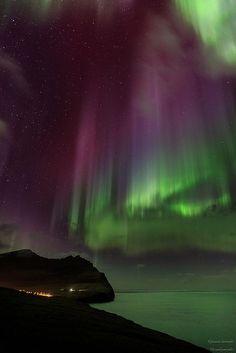 Travel Inspiration for The Faroe Islands - Magical lantern   Taken in Viðareiði, Faroe islands