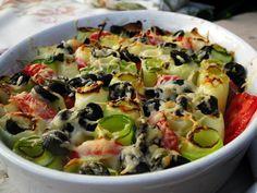 zapekana cuketa Fruit Salad, Quinoa, Ham, Potato Salad, Cake Decorating, Good Food, Food And Drink, Low Carb, Vegetarian