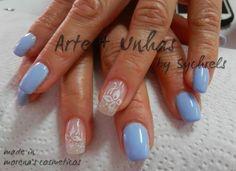 #unhas#nails#artnail - Morena's Cosméticos: Azul Classico