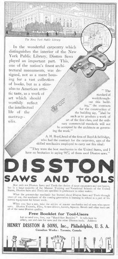 how to date disston saws