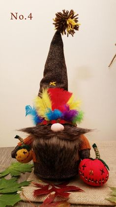 Thanksgiving Gnome from Plymouth Halloween Gnome Very Unique Craft Projects For Adults, Craft Activities For Kids, Projects To Try, Craft Ideas, Crafts To Do, Crafts For Kids, Christmas Knomes, Nail Polish Crafts, Elves And Fairies