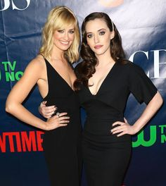 Beth Behrs and Kat Dennings attend the CBS, The CW, Showtime & CBS Television Distribution's 2014 TCA Summer Press Tour Party at Pacific Design Center on July 2014 in West Hollywood, California. Kat Dennings, Gigi Hadid Victoria Secret, Megan Good, Rachel Lindsay, Amanda, Two Broke Girl, Beth Behrs, Nia Long, Swift Photo
