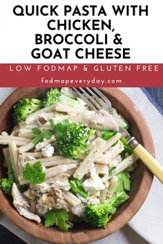 Cooked Chicken, Chicken Pasta, How To Cook Chicken, Food Map Diet, Fodmap Recipes, Healthy Recipes, Raw Broccoli, Clean Eating, Healthy Eating