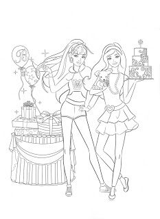 BARBIE COLORING PAGES For L